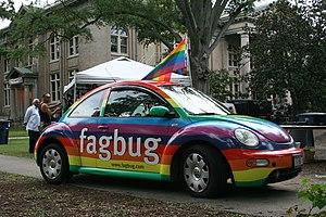 Faggot (slang) - Image: 2008 09 27 Fagbug in Durham