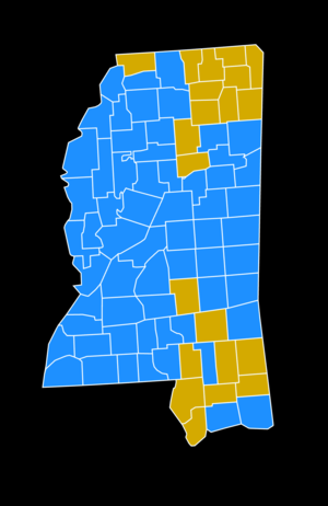Mississippi Democratic primary, 2008 - Image: 2008Mississippi Democratic Primary