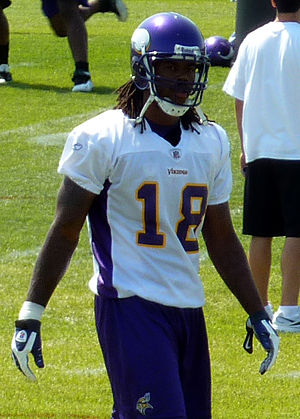 Sidney Rice - Rice at Vikings training camp in 2009