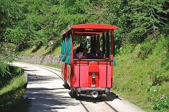 Riffelalp tram - Image: 2012 08 17 15 22 30 Switzerland Canton du Valais Blatten