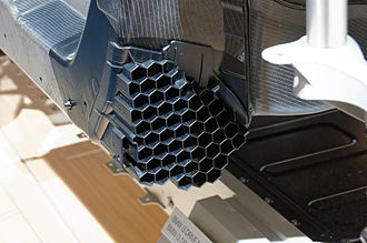 Honeycomb structure - Honeycomb crash absorption structure made of injection moulded thermoplastic polymer on a BMW i3
