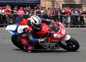 Superstock TT -  Michael Dunlop Superstock TT 1000cc Honda lap 2 - Parliament Square, Ramsey – 3 June 2013