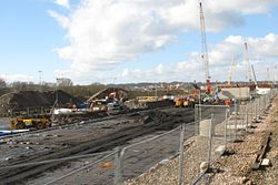 2014 at Reading Viaduct - clearing the way.JPG