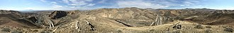 Carlin Canyon (Nevada) - Image: 2015 04 19 15 31 29 Full 360 degree panorama from the hill above the Carlin Tunnel in the Carlin Canyon of Elko County, Nevada