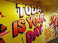 2015 191st Street IRT station tunnel Today Is Your Day.jpg