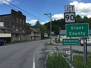 Gormania, West Virginia - Entering Gormania along eastbound US 50