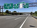 2018-07-08 14 40 01 View north along Interstate 95 (New Jersey Turnpike Eastern Spur) at Exit 16E (New Jersey Route 3, Secaucus, New Jersey Route 495 EAST, Lincoln Tunnel) in Secaucus, Hudson County, New Jersey.jpg