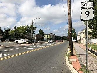 Tuckerton, New Jersey - U.S. Route 9 southbound in Tuckerton