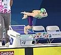 2018-10-07 Swimming Girls' 50 m Breaststroke Semifinal 2 at 2018 Summer Youth Olympics (Martin Rulsch) 09.jpg