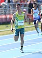2018-10-16 Stage 2 (Boys' 400 metre hurdles) at 2018 Summer Youth Olympics by Sandro Halank–031.jpg