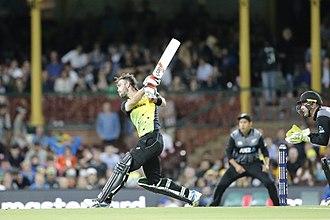 Glenn Maxwell - Maxwell batting against New Zealand in February 2018 during the Tri-Series