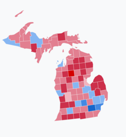 2018 Senate election results in Michigan.png