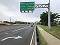 2019-08-14 09 32 51 View west along U.S. Route 40 (Pulaski Highway) at exit for Interstate 695 NORTH (Towson) on the edge of Middle River and Rossville in Baltimore County, Maryland.jpg