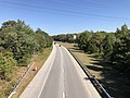 2019-09-25 14 50 02 View east along the westbound lanes of Maryland State Route 100 (Paul T. Pitcher Memorial Highway) from the overpass for Maryland State Route 648 (Waterford Raod) in Pasadena, Anne Arundel County, Maryland.jpg