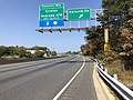 2019-10-01 12 20 26 View north along Maryland State Route 5 (Branch Avenue) at the exit for Malcolm Road in Clinton, Prince George's County, Maryland.jpg