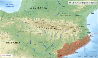 Battle of Cissa - Scipio's landing in Iberia