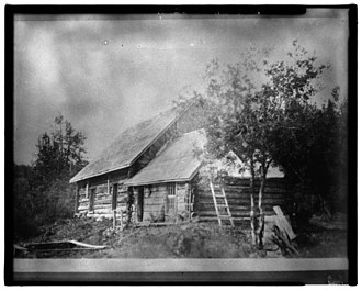 National Register of Historic Places listings in Haines Borough, Alaska - Image: 26. MAIN BUILDING AT DALTON CACHE (BUILDING G H) IN LATE 1920s Dalton Trail Post, Mile 40, Haines Highway, Haines, Ha LOC hhh.ak 0001.photos.001415p