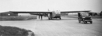 RAF Aldermaston - CG-4A Waco Glider of the 315th Troop Carrier Group, 1943.