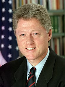 Portrait officiel de Bill Clinton (1993).
