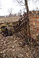 4645viki Kościół w Brzezince - mur cmentarny z bramką. Foto Barbara Maliszewska.jpg