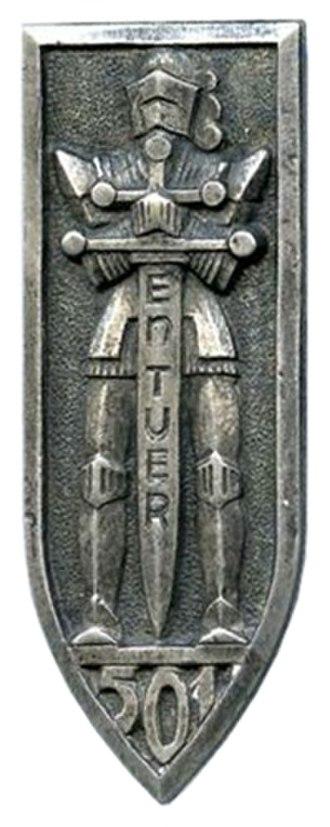 501e Régiment de chars de combat - Regimental Insignia of the 501e RCC