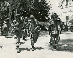 504th Infantry Regiment (United States) - Men of the 504th Parachute Infantry Regiment patrolling in Sicily, July 1943.
