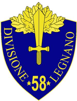 58th Infantry Division Legnano - 58th Infantry Division Legnano Insignia