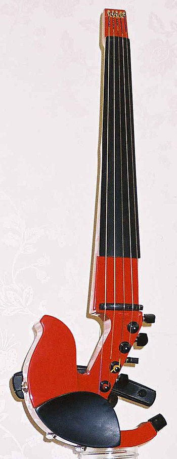 A five string electric violin.
