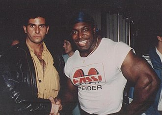 Lee Haney - Lee Haney with Paolo Tassetto in 1988