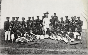 Blue and Gold Marching Machine - Image: A&T Band in 1915