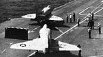 A-4C Skyhawks from VMA-223 are launched from USS Yorktown (CVS-10) c1964.jpg