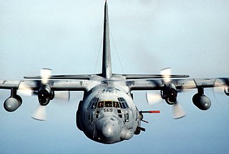 Lockheed AC-130 - AC-130H Spectre near Hurlburt Field, Florida in 1988