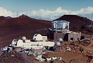 Air Force Maui Optical and Supercomputing observatory - The Air Force Maui Optical and Supercomputing site at Haleakala Observatory in Hawaii. Facilities shown include the Advanced Electro-Optical Telescope, the Maui Space Surveillance System, and one of three Ground-based Electro-Optical Deep Space Surveillance sites.