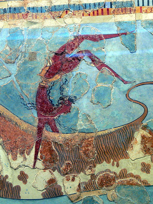 Bull-Leaping Fresco