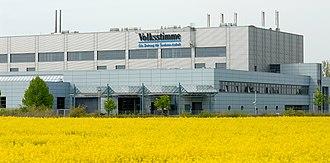 Volksstimme (Saxony-Anhalt) - Volksstimme printing center located in Barleben near the Bundesautobahn 2