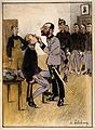 A Jewish army doctor searches a prisoner of war's mouth for Wellcome V0015755.jpg