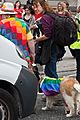 A Lady and Her Dog At The Pride Parade (She also Had a Parrot) (4736854694).jpg