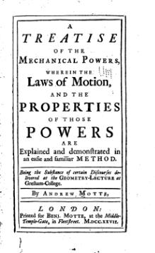 A Treatise of the Mechanical Powers - Motte - 1733.djvu