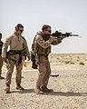 A U.S. Marine with the 26th Marine Expeditionary Unit's maritime raid force fires an M4 carbine at a range in Jordan June 9, 2013, during Eager Lion 2013 130609-M-SO289-009.jpg