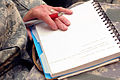 A U.S. Soldier takes notes during a medical and dental knowledge exchange with members of the Royal Moroccan Armed Forces April 9, 2012, in Agadir, Morocco 120409-M-ZD965-001.jpg