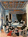 A birth scene. Oil painting. Wellcome V0017246.jpg
