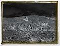A bulldozer winches a felled tree up a hillside (AM 77584-2).jpg
