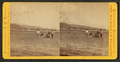A group of Hawaiians on the beach, ships and town in the background, by A. A. Montano.png