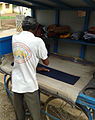 A man ironing clothes at Kakinada 01.jpg