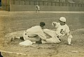 A member of the St. Louis Terriers baseball team (Federal League) slides into third base during a game.jpg