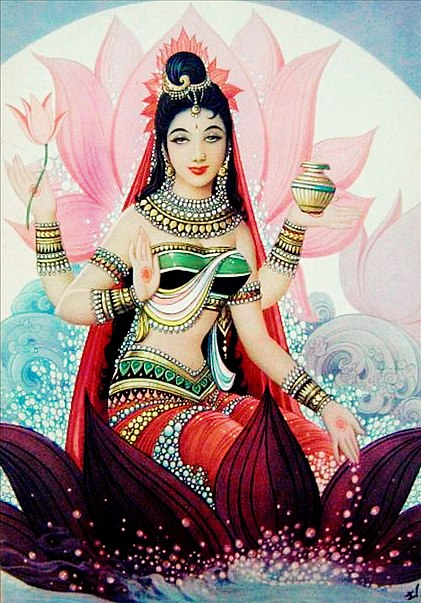 A powerful deity in her own right, Shri Lakshmi herself