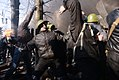 A protester holding Molotov Cocktail seen as the clashes develop in Kyiv, Ukraine. Events of February 18, 2014-2.jpg