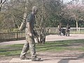 A statue of a walking man in Holland Park - geograph.org.uk - 1230088.jpg