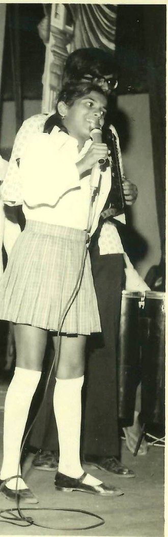 Hema Sardesai - A young Hema Sardesai performing, c.1979