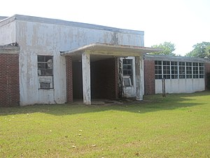 Derry, Louisiana - Abandoned school near Derry in Natchitoches Parish